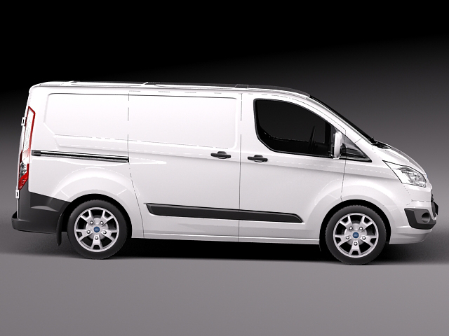 Ford Transit Custom 2013 Van 3D Model .max .obj .3ds .fbx .c4d