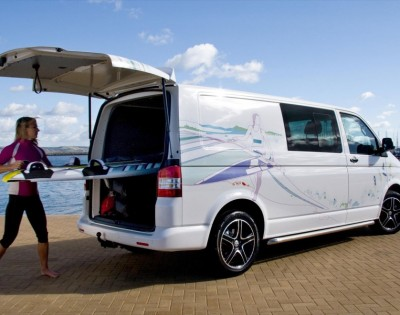volkswagen transporter with a doubleback