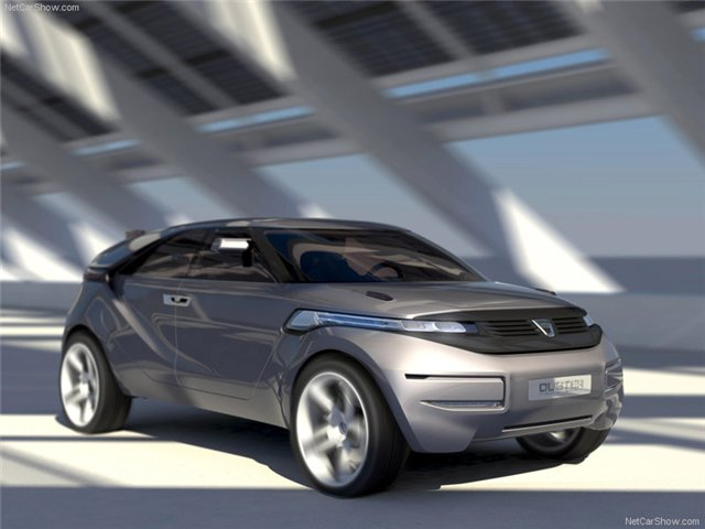 2009 Dacia Duster Concept Front And Side Speed 1600x1200.