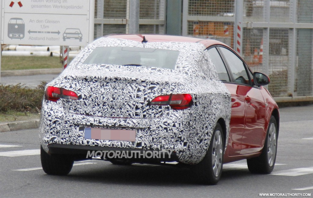 2013 Opel Astra Sedan Spy Shots