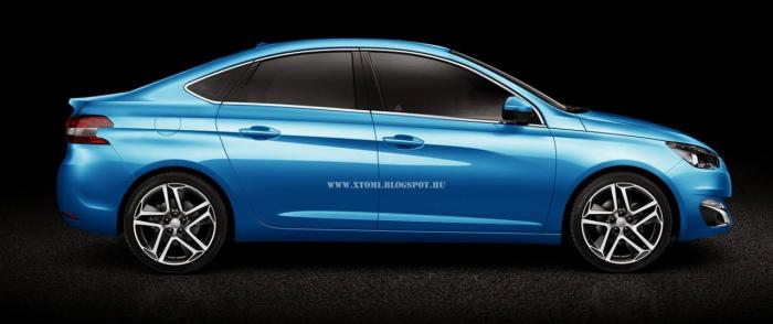 2014 Peugeot 308 Sedan digitally imagined
