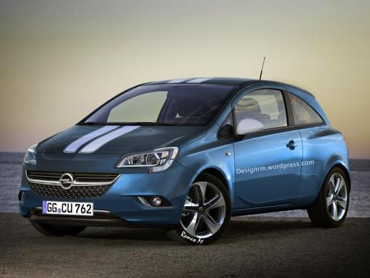 2015 Opel Corsa gets rendered