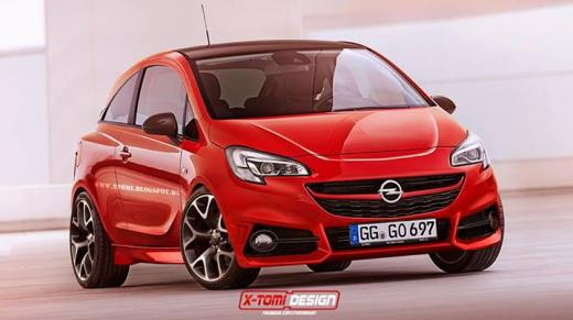 2015 Opel Corsa OPC gets rendered