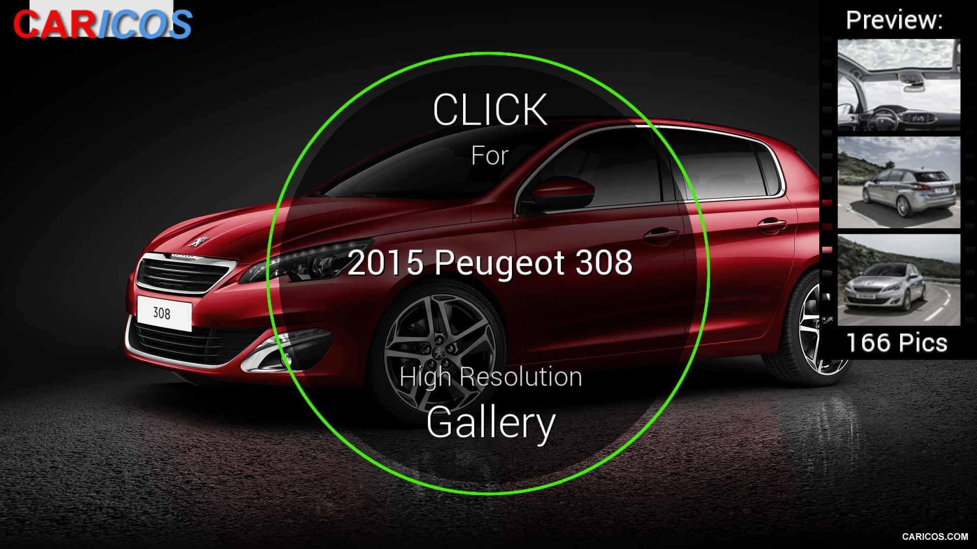 2015 Peugeot 308 Red - Side | HD Wallpaper #128 | 1920x1080