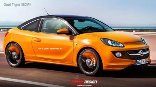 New-gen Opel Tigra rendered