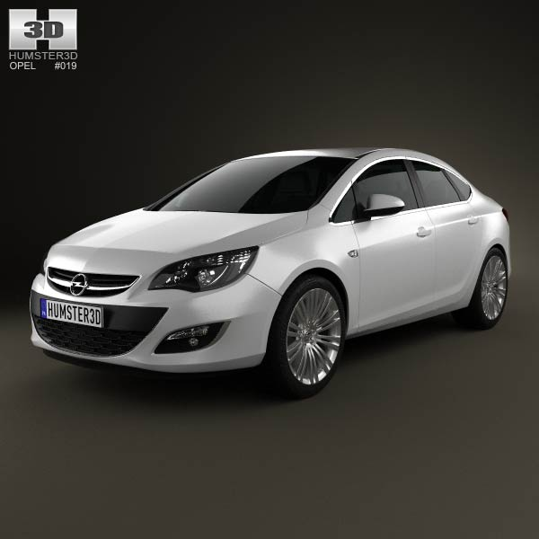 Opel Astra J sedan 2012 3D model - Humster3D
