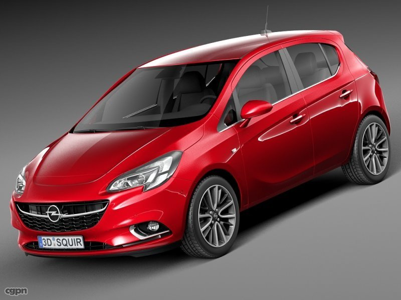 Opel Corsa 5-door 2015 - 3d model - CGStudio