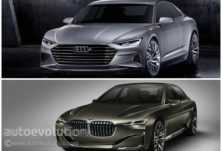 Photo Comparison: BMW Vision Future Luxury Concept versus Audi