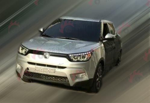 Ssangyong Tivoli compact SUV spotted in the wild
